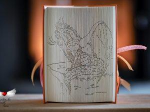 Drachen-Lady-Schattenfaltung